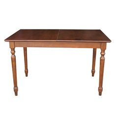 Espresso 32 x 30-Inch Turned Leg Butterfly Extension Table
