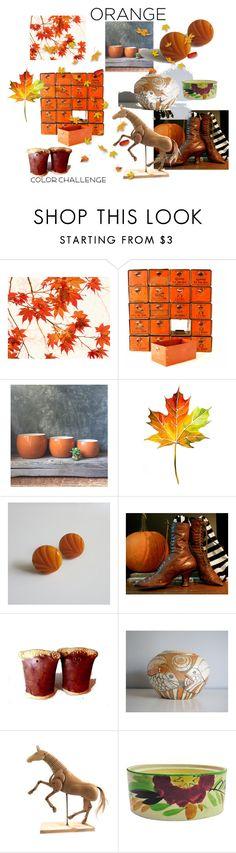 Orange by plumsandhoneyvintage on Polyvore featuring interior, interiors, interior design, home, home decor, interior decorating, Dansk, WALL, Authentic Models and orangeandblack