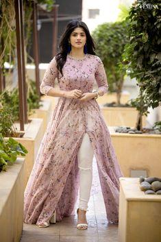 Megha Akash photoshoot stills for Femina Magazine - South Indian Actress Party Wear Indian Dresses, Designer Party Wear Dresses, Indian Gowns Dresses, Dress Indian Style, Indian Fashion Dresses, Indian Designer Outfits, Girls Fashion Clothes, Stylish Dresses For Girls, Stylish Dress Designs