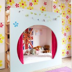 Kids Bedroom : Your Guide to Have Nicely Bedroom:Multi Function Kids Bedroom Free Picture Flowery Kids Bedroom
