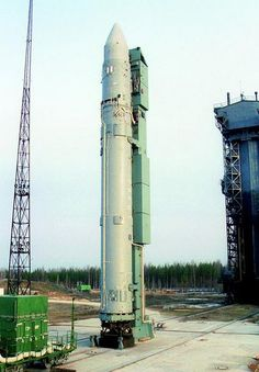 Ruská raketa Rokot na startovním komplexu Pleseck. Foto: Zdroj Roscosmos a Eurockot
