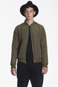 Members Only Quilted Bomber Jacket / Fatigue http://www.membersonlyoriginal.com/collections/members-only-collection/products/quilted-bomber-jacket