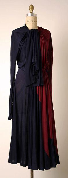 Dress, Afternoon  Madame Grès (Alix Barton) (French, Paris 1903–1993 Var region)  Date: 1937–39 Culture: French Medium: silk