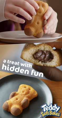 There's a hidden filling waiting to be discovered in each Teddy Soft Bakes treat.