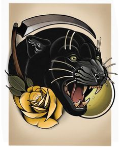 Tribal Tattoos, Tattoos Skull, Skull Tattoo Design, Cute Tattoos, New Tattoos, Tattoos For Guys, Sleeve Tattoos, Tattoo Designs, Panther Rose