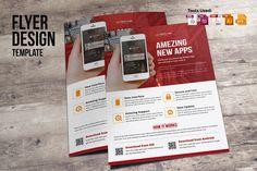 Mobile Apps Promotion Flyer by Miyaji75 on @creativemarket