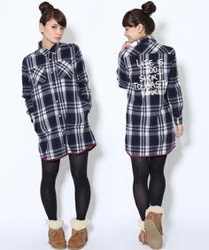 BINDING PLAID SHIRT DRESS(ワンピース)|X-girl(エックスガール)のファッション通販 - ZOZOTOWN