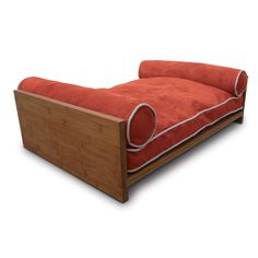 Fab.com   Daybed Orange  Now THIS is an esthetically pleasing dog bed: mid-century-modern at its best!