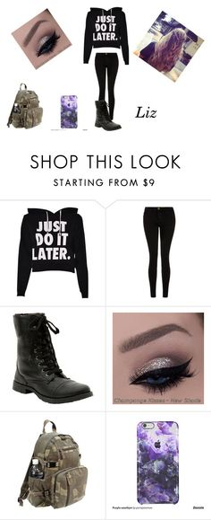 """Untitled #286"" by emmi-princess on Polyvore featuring Current/Elliott, Rothco, women's clothing, women, female, woman, misses and juniors"