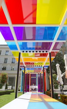 True colours: artist Daniel Buren's kaleidoscopic takeover at Paris' Le Bristol hotel | Wallpaper*