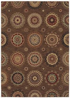 "Area Rug in the Tommy Bahama collection style ""Murri Suzani"" color Dark Brown - by Shaw Floors"