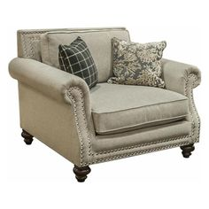 Unique Birch Chair with 2 Designer Pillows   Nebraska Furniture Mart