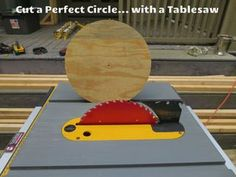Table saws are great at cutting straight but when its time to cut circles most people think of other tools, bandsaws, jig saws, hole saws, routers... etcWell you can...