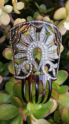 Hair comb 1910s spanish with Swarowski/diamante' and by ArtEurope