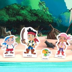 @DisneySideUS #disneyside I am using these great Jake and The NeverLand Pirates Printouts for cupcake toppers! You can laminate them (if your nuts like me) and tape a toothpick on the back. This way your cupcakes are decorated with ease AND the kids can take off the toothpick (with adult supervision) and play with the characters after!
