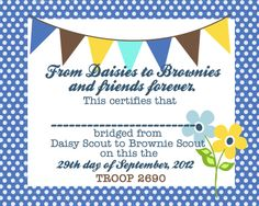 girl scout bridging ceremony ideas | Girl Scout Bridging Invitations free for your party. Get this elegant ...