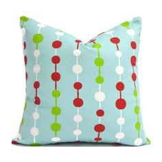We make your covers to fit any size pillow insert. Fabric is a medium weight, 100% screen-printed cotton. Colors include blue, red, green, and white. #HolidayDecor #ChristmasDecor #Xmas #EtsyDecor Blue Pillow Covers, Outdoor Pillow Covers, Handmade Pillow Covers, Pillow Cover Design, Designer Throw Pillows, Decorative Throw Pillows, Christmas Pillow Covers, Premier Prints, Animal Pillows
