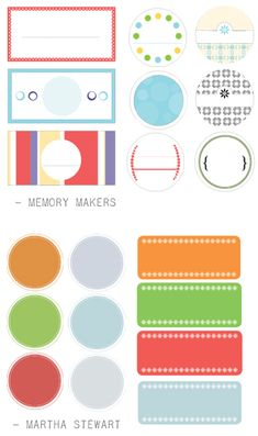 Collection of Printable labels - I've used a bunch of these for different projects. Love them!