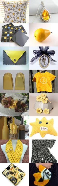 Gray and Yellow by Rosemary Grayson on Etsy--Pinned with TreasuryPin.com