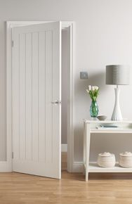 Moulded Mexicana / Dordogne white interior door