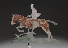 Horse and Huntsman Silhouette Folk Art Weathervane I English I ca. 1880