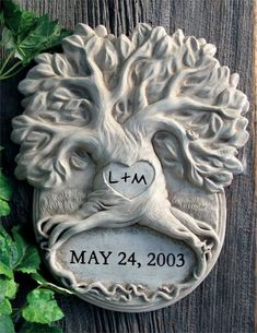This personalized tree sculpture is a fun and touching gift, perfect for any wedding or anniversary. Garden & Home Decor Sculptures Handmade by Carruth Studio, Waterville, OH