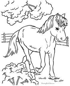 horses to print and color - Animal Pictures To Print And Colour