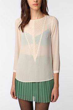 V-inset blouse