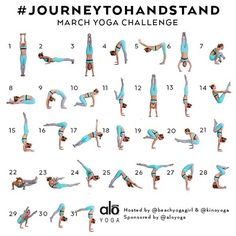 """Announcing the March Yoga Challenge ➡️#JourneytoHandstand⬅️ Hosts: @kinoyoga & @beachyogagirl Sponsored by: @aloyoga  For March we will be teaching you…"""