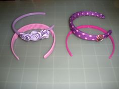 """18"""" Doll Headband Sets. I found them in Walmart there for there 18"""" My Life As Doll. Headbands come 2 to a Set & are only $2.00."""