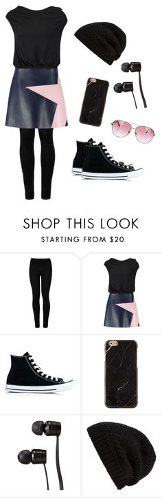"""""""Rockstar🎤🎸"""" by brileeg3 ❤ liked on Polyvore featuring Wolford, MSGM, Converse, Vans, Rick Owens and Minnie Rose"""