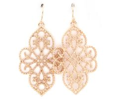 Dotted Filigree Earrings in Gold on Emma Stine Limited