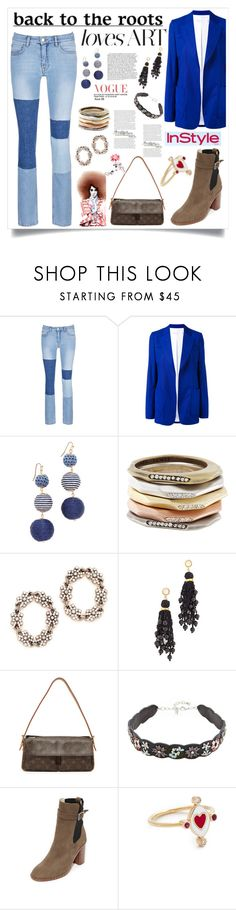 """Denim Blues"" by justinallison ❤ liked on Polyvore featuring Victoria, Victoria Beckham, Victoria Beckham, Shashi, Kendra Scott, MAHA LOZI, Lizzie Fortunato, Rebecca Minkoff, rag & bone and Holly Dyment"