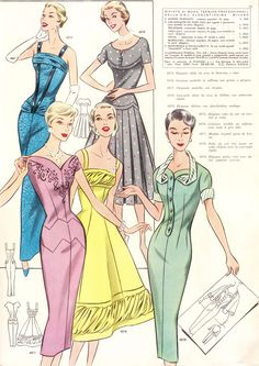 Gorgeous pattern drafting system from Spring 1957!