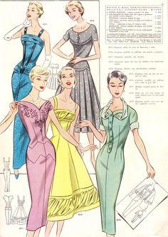 Gorgeous pattern drafting system from Spring Vintage Midi Dresses, Vintage Dress Patterns, Clothing Patterns, Vintage Outfits, Vintage Soul, Retro Vintage, 1950s Fashion, Vintage Fashion, Vintage Classics