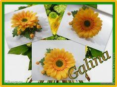 гербера цветок из фоамирана