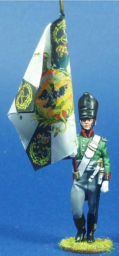 SILESIAN SCHUETZEN BANDERA NP 161 Lead Soldiers, Toy Soldiers, Napoleonic Wars, Figure Model, Army, Batman, Miniatures, Military, Superhero