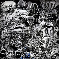 """Yes hi. I'll have ALL the Star Wars thanks."" #starwars #starwarsfan #starwarsgeek #starwarsnerd #theforceawakens #starwarstheforceawakens #humor #funny #joke #comics #art #sketch #comicbook #nerd #geek #geeklife #jokeoftheday #nerdhumor #nerdart #geeky #geekart #nerdlife #geekingout #wampa #greedo #jabbathehutt #ewok #r2d2 #jawa #darthvader"