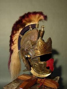 Officer's helmet with crest attached 195-260 AD