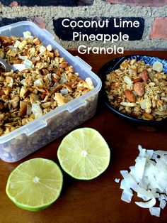 Coconut Lime Pineapple Granola. It's a party in your mouth.