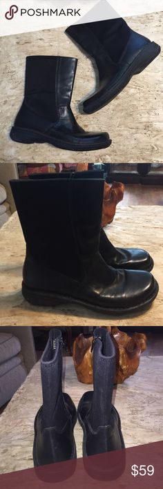 """❗️NWOT Earth Shoes """"Wood"""" Boots. Size 10.5 NWOT Earth Shoes """"Wood"""" Boots. Size 10.5. Leather upper. Man made outsole. Style #6847448.   Black boots with all weather sole.  Boots are 10 inches tall with zipper up ankles. Heel height is 1.5"""". Earth Shoes Shoes Winter & Rain Boots"""