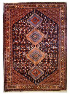 Tappeto Yalameh Aliabad 100012075 Tappeti SUPER-OFFERTE 2017 periodo limitato Tappeto persiano fine con disegno geometrico Vello lana Trama/ordito lana Spe