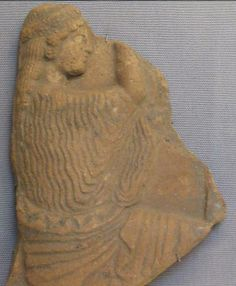 terracotta plaque of Persephone - made in Medma circa 470 BCE
