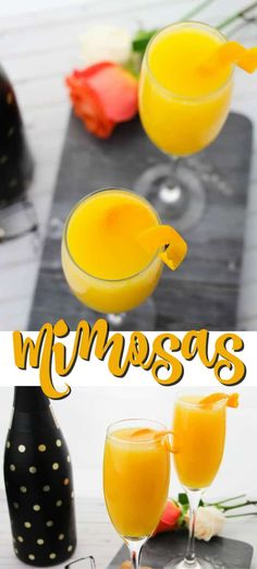 Mimosas are also incredibly easy to make and replenish, making them the perfect low-fuss brunch cocktail for all occasions. Easy Drink Recipes, Best Cocktail Recipes, Coffee Recipes, Yummy Drinks, Cooking Recipes, Yummy Food, Delicious Recipes, Best Breakfast Recipes, Brunch Recipes