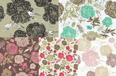 Line Drawn Flower Vector Patterns