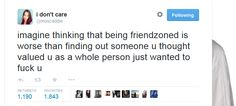 friendzoned vs valued as a person