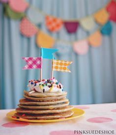 birthday pancakes by pinksuedeshoe, via Flickr