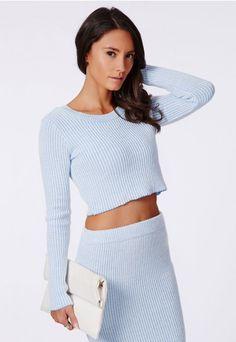 Casey Knit Scoop Neck Crop Top - Crop Tops - Missguided
