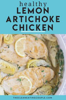 This Healthy Lemon Artichoke Chicken Recipe is an easy one pan dinner the whole family will love! This healthy chicken recipe is paleo, and gluten free. Made with simple ingredients like chicken, artichoke hearts, and lemon juice, it's quick to make and tastes amazing! #paleo #glutenfree #dairyfree #lemon #artichokes #chicken