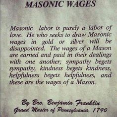Masonic Wages